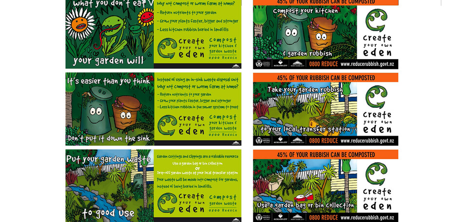 NORTH SHORE CITY COUNCIL - COMPOSTING BUS BACK ADVERTS